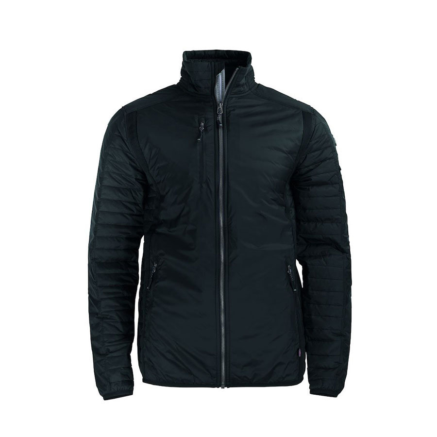 Jakke, sort, til mænd, tynd jakke med isolering, en god og alsidig udendørsjakke