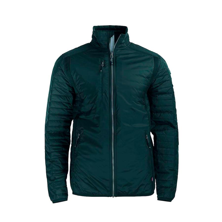 Jakke, sort, til mænd, tynd jakke med isolering. En god alsidig udendørsjakke med vandrette quiltlinier på ærmer
