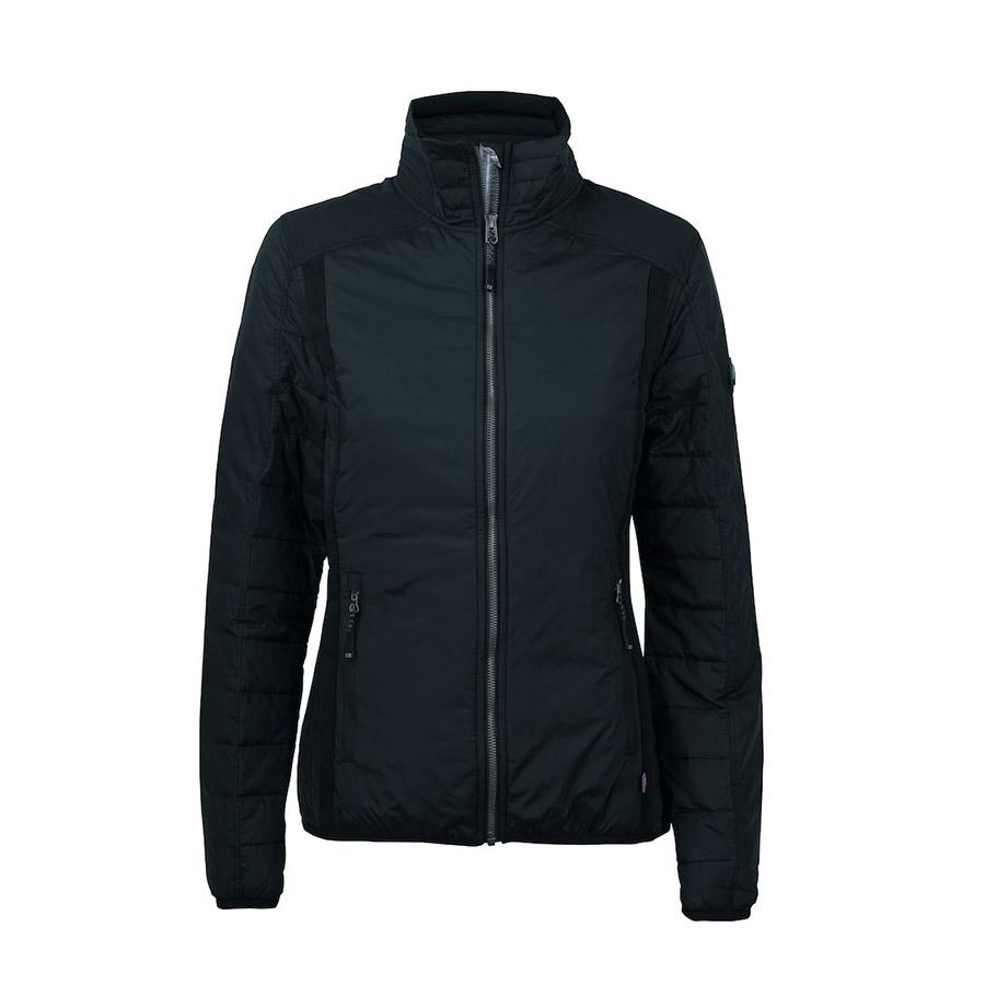 Jakke, sort, til damer, tynd jakke med isolering, en god og alsidig udendørsjakke