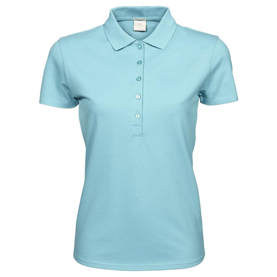 Aqua,poloshirt,til damer,5 knapper, i bomuld og elastan, korte ærmer
