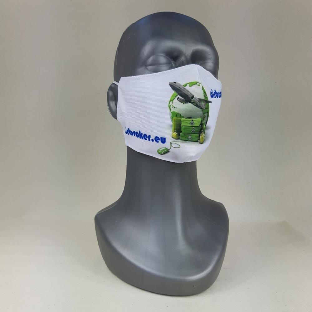 Mundbind med tryk og logo