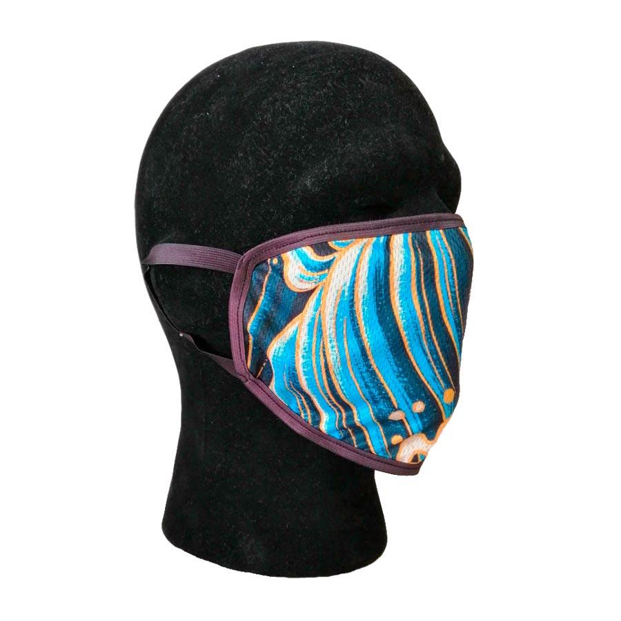 Ansigtsmaske med elastik bag ørerne og eget tryk