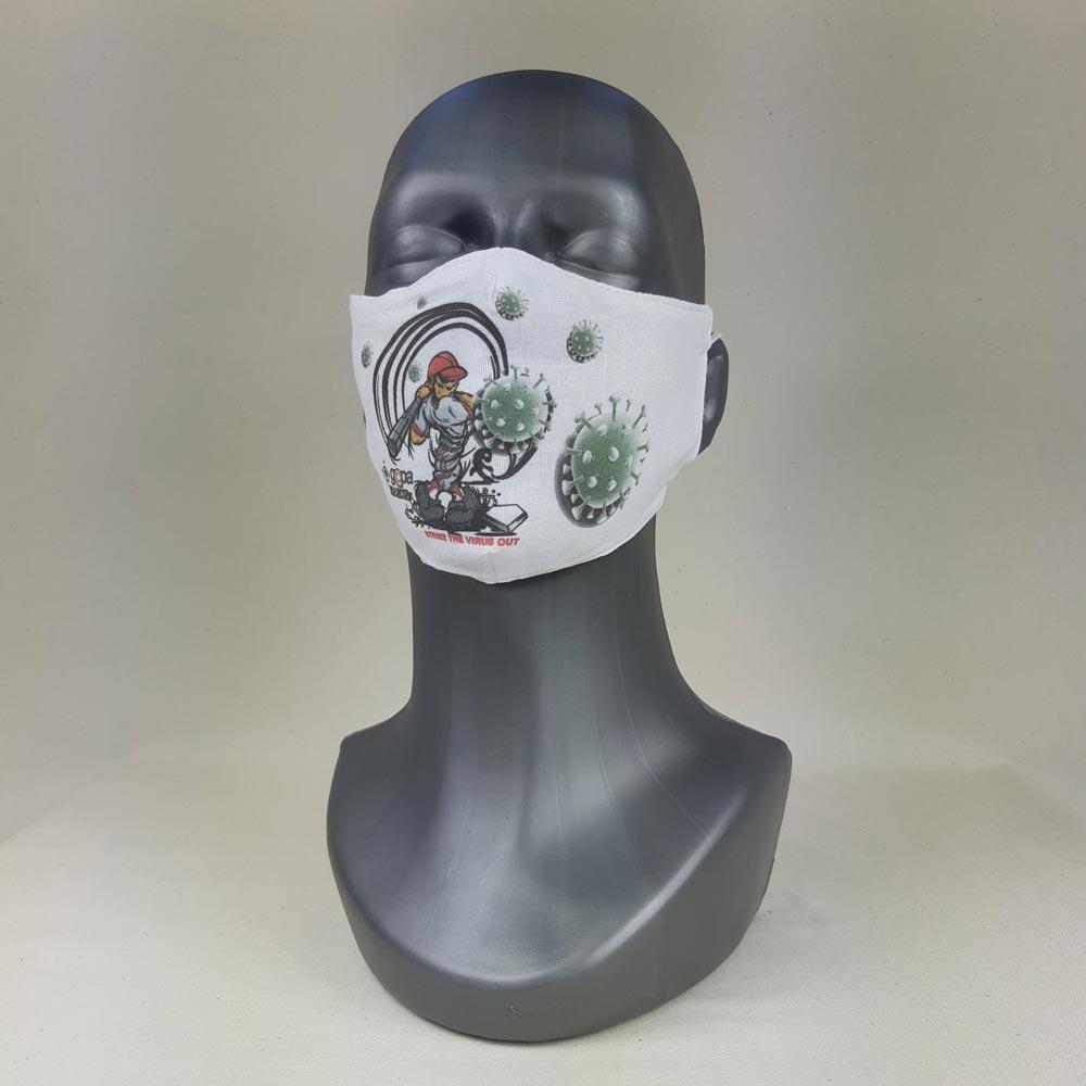 Ansigtsmaske i stof og dit logo